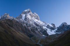 Peak of the mountain Ushba Stock Photography