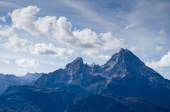 Peak of the mountain Watzmann Royalty Free Stock Images