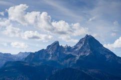 Peak of the mountain Watzmann Royalty Free Stock Images