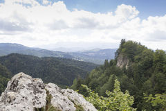 Peak in the mountains. 2000 meters altitude in the carpathians, romania Royalty Free Stock Image