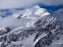 Peak of Mt Cook Aoraki, Southern Alps Royalty Free Stock Images