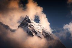 Free Peak Of Mount Kangtega In Himalaya Mountains At Sunset, Nepal Stock Images - 145204354