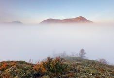 Peak over clouds, Slovakia - Maninska Tiesnava.  Stock Photos