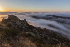 Peak Park Sunrise Clouds Near Los Angeles California Royalty Free Stock Photos