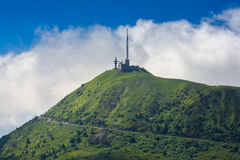 Peak of Puy de Dome in Auvergne Royalty Free Stock Photo