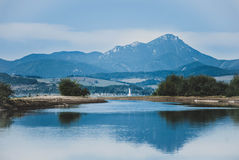 Peak reflection in water Stock Photography