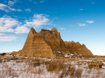 A Peak Rises in the Badlands Royalty Free Stock Image