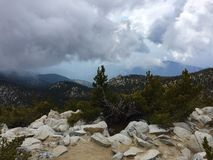 Peak of San Jacinto Looking toward the Forest royalty free stock images