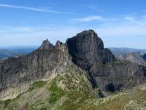 Peak in Sayan. Mountains, Siberia, Russia Royalty Free Stock Photography