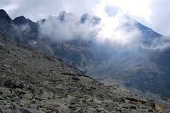 Vysoke Tatry peaks scenery Royalty Free Stock Photo