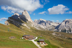 Peak Seceda landscape Stock Photography