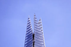 The peak of The Shard - close up. The Shard in London, England at its peak royalty free stock image