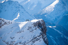 Peak with Ski Lift in the Zugspitze, Germany Royalty Free Stock Image