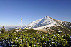 Peak Snezka 1602 m n.m. Royalty Free Stock Image