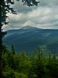 Peak Snezka 1602 m n.m. Royalty Free Stock Photography