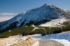 Snezka peak Stock Images