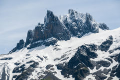 Peak of Snowy Mountains Royalty Free Stock Photography