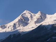 Peak of Stubai Alpen in morning Royalty Free Stock Photo