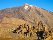 The peak of Teide Volcano Stock Images