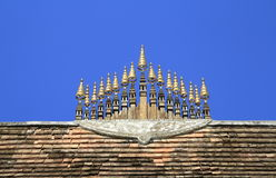 Peak of temple roof Royalty Free Stock Photos