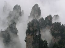 Peak of Tianzi mountain Stock Photography