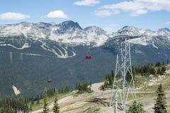 Peak to Peak Gondola. Between Whistler and Blackcomb Mountains Stock Images