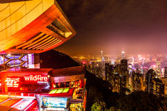 Peak Tower Hong Kong Stock Images