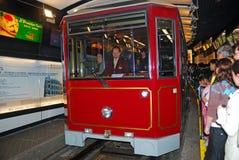 Peak Tram, Central, Hongkong Stock Image