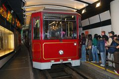 Peak Tram, Central, Hongkong Royalty Free Stock Photos