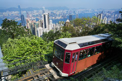 `Peak Tram` Hong Kong. The `Peak Tram` in Hong Kong stock images