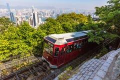 Peak Tram Hong Kong Stock Image