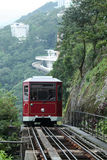 Peak tram in Hongkong Royalty Free Stock Photo