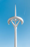 Peak of TV Tower in Barcelona, Spain, Europe. Royalty Free Stock Photography