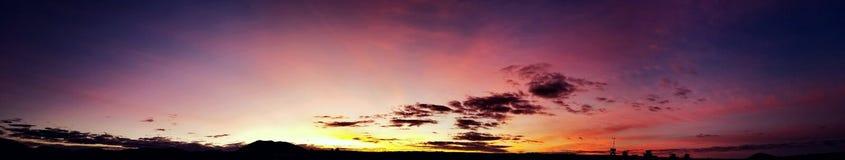 Sun on the horizon stock photography
