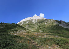 Peak Vihren, Pirin mountain, Bansko, Bulgaria, Eastern Europe. The bulgarian peak Vihren in Pirin mountain. During the summer stock photos