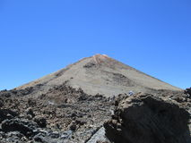 Peak of the volcano el Teide, Tenerife royalty free stock photo