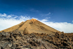 Peak of the volcano El Teide, Tenerife, Canary Islands. Stock Image
