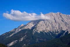 Peak of the Watzmann with cloud Royalty Free Stock Image
