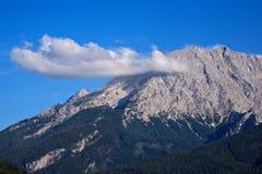 Peak of the Watzmann with cloud Royalty Free Stock Image