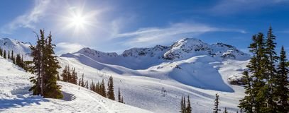 The peak of Whistler Mountain on a sunny day. royalty free stock image