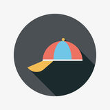 Peaked cap flat icon with long shadow Stock Photography