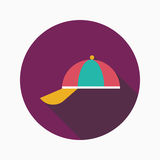 Peaked cap flat icon with long shadow Stock Photos