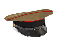 Peaked cap the soldier army Royalty Free Stock Image