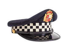 Peaked cap of the Spanish policeman Royalty Free Stock Photography