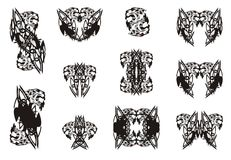 Aggressive double tiger head symbols Royalty Free Stock Images