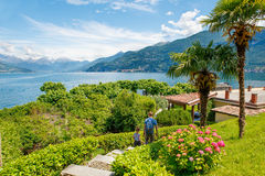 Peaked headland in Bellagio Stock Images