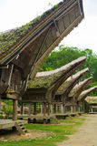 Peaked Roof of Tana Toraja Boat House Royalty Free Stock Images