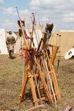 Peakes, spears en assen Royalty-vrije Stock Fotografie