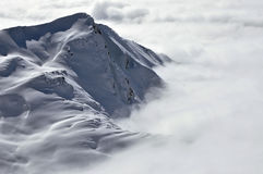 Peaks above clouds, winter in the Austrian Alps Stock Photo