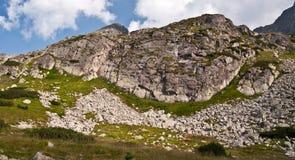 Peaks above Dolina Zielona Gasienicowa in Tatry mountains Royalty Free Stock Photos